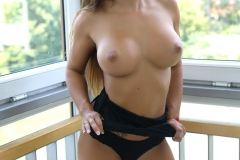 Allison with Big Perky Breasts on a Balcony for Photodromm 003