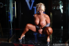 Alura Jenson is Naked Huge Tit Glamour Girl in High Heels 006