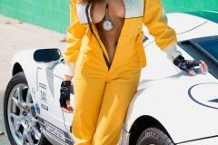 Alyssa Arce Boobs in yellow jump suit 002