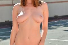 Amber Hahn Big Boob Bouncy Lycra Jogger 007