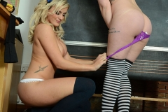 Amy Green and Sarah Stevens are naughty naked booby schoolgirls 13