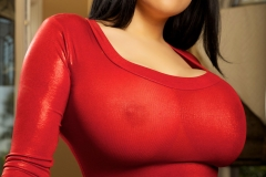 Ana Rica Big Boobs in tight red dress 01