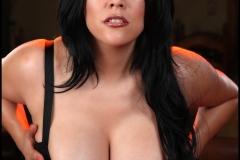 Ana Rica Huge Boobs in Orange Top 008