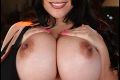 Ana Rica Huge Boobs in Orange Top 012