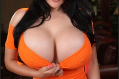 Ana Rica Huge Boobs in Orange Top 014