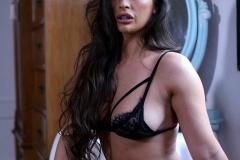 Anastasia Harris Big Boobs in Black Lacy Bra plus Stockings 001