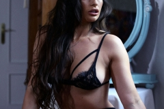 Anastasia Harris Big Boobs in Black Lacy Bra plus Stockings 002