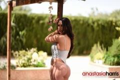 Anastasia Harris Big Boobs Silver Swimsuit 006