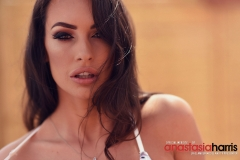 Anastasia Harris Nice Boobs in a Black and white Bikini 008
