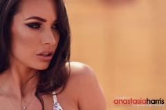 Anastasia Harris Nice Boobs in a Black and white Bikini 009