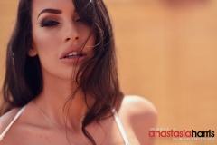Anastasia Harris Nice Boobs in a Black and white Bikini 010