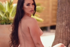 Anastasia Harris Nice Boobs in a Black and white Bikini 016