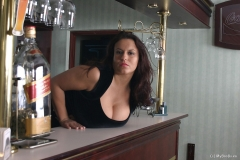Aneta Buena Huge Tit Barmaid Gets them Out 002