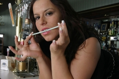 Aneta Buena Huge Tit Barmaid Gets them Out 003