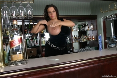Aneta Buena Huge Tit Barmaid Gets them Out 004