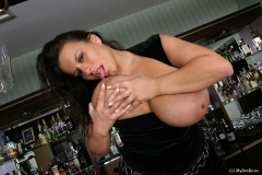 Aneta Buena Huge Tit Barmaid Gets them Out 010