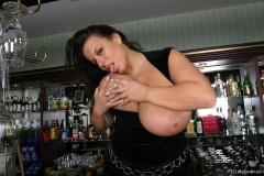 Aneta Buena Huge Tit Barmaid Gets them Out 011