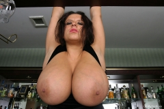 Aneta Buena Huge Tit Barmaid Gets them Out 012