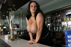 Aneta Buena Huge Tit Barmaid Gets them Out 013