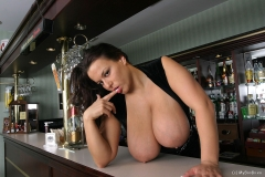 Aneta Buena Huge Tit Barmaid Gets them Out 015