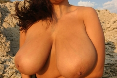 Aneta Buena Huge Tits Come out of Tight Red Dress 009