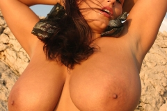 Aneta Buena Huge Tits Come out of Tight Red Dress 012