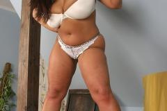 Aneta Buena Huge Tits in White Bra 006