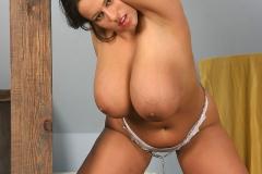 Aneta Buena Huge Tits in White Bra 011