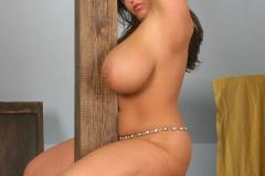 Aneta Buena Huge Tits in White Bra 015