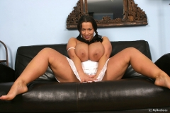 Aneta Buena Huge Tits in White Dress 012