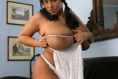 Aneta Buena Huge Tits in White Dress 014