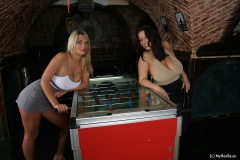 Aneta Buena & Ines Cudna in Huge Naked Tit Fussball Game 002