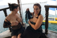 Aneta Buena & Kora Kryk  Get Big Tits Naked at the Marina 011