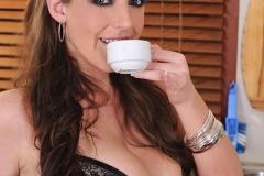 Angela White Huge Boobs black bra 01