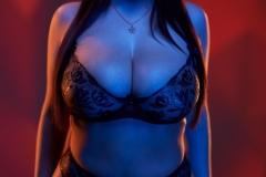Angela White Huge Tits Get Wet in Black Swimsuit 012