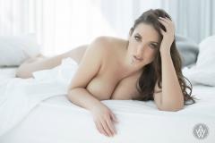 Angela White Tits White Lingerie 12