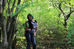 Anisyia Big Tits Tight Leather Trousers in the Forest 094