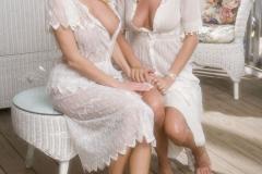 Anita Dark and Wanda Curtis in white Dresses 001