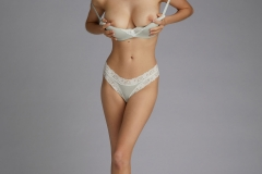 Anna Lucos Big Boobs Ivory lacy Bra and Panties 003