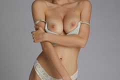 Anna Lucos Big Boobs Ivory lacy Bra and Panties 005