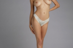 Anna Lucos Big Boobs Ivory lacy Bra and Panties 008