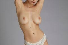 Anna Lucos Big Boobs Ivory lacy Bra and Panties 012
