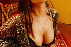 Aria Giovanni Big Tits Gold Mesh Dress and Bra 001