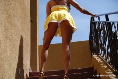 Ariella Ferrera Big Boobs Come out of Yellow Dress 006