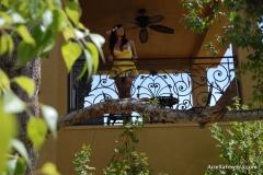 Ariella Ferrera Big Boobs Come out of Yellow Dress 007