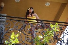 Ariella Ferrera Big Boobs Come out of Yellow Dress 011