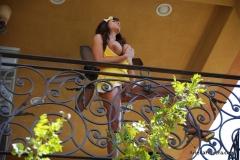 Ariella Ferrera Big Boobs Come out of Yellow Dress 012
