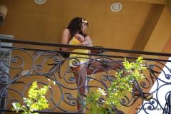 Ariella Ferrera Big Boobs Come out of Yellow Dress 013