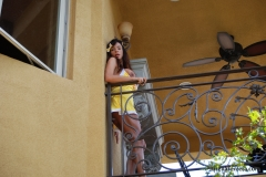 Ariella Ferrera Big Boobs Come out of Yellow Dress 014