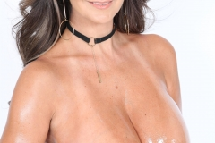 Ava Addams Huge Tits in White Tight Top 016